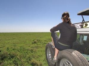 Taking a break to soak in all of the Serengeti